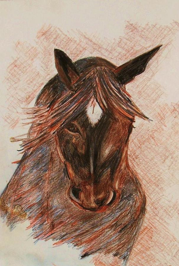 Horses Painting - Beautiful Tucker by Deborah Gorga