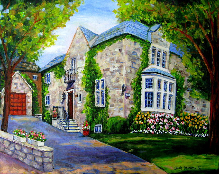 Beautiful Westmount Home Painting  - Beautiful Westmount Home Fine Art Print
