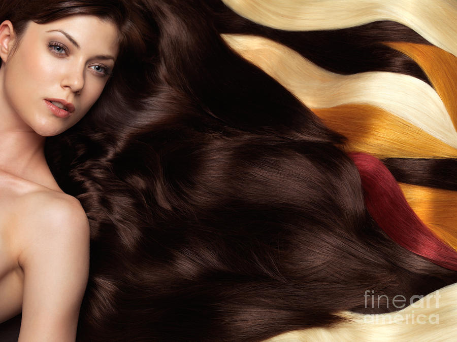 Beautiful Woman With Hair Extensions Photograph