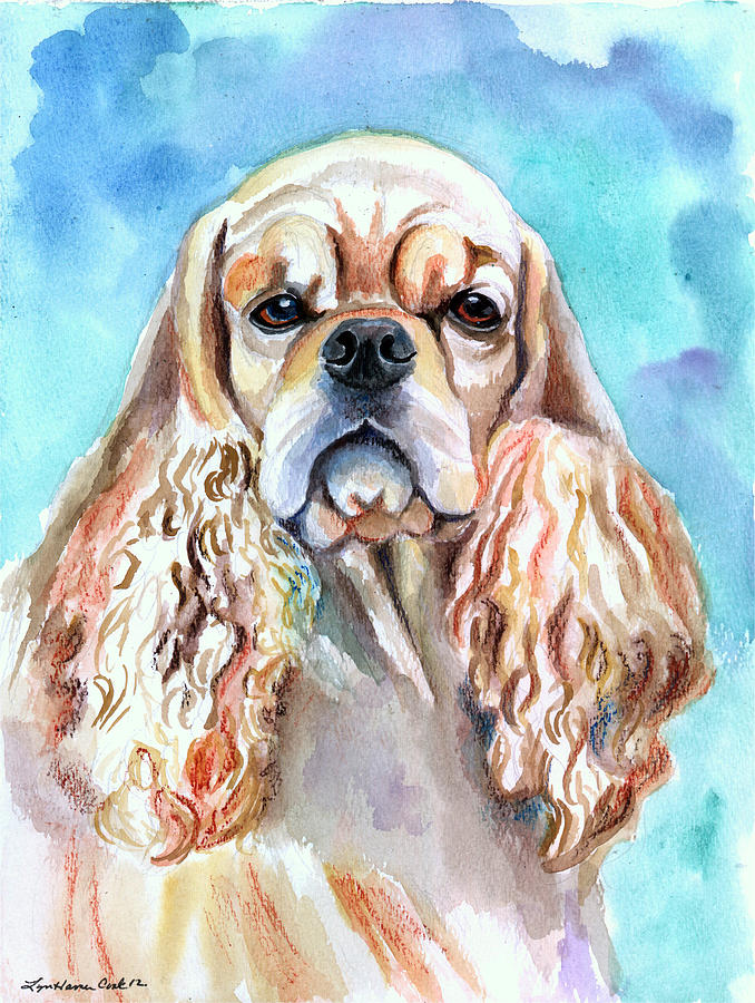 Beauty - American Cocker Spaniel Painting
