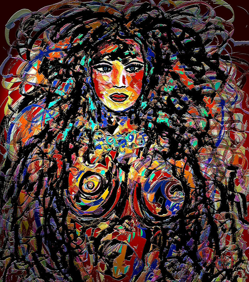 Beauty Goddess Mixed Media  - Beauty Goddess Fine Art Print