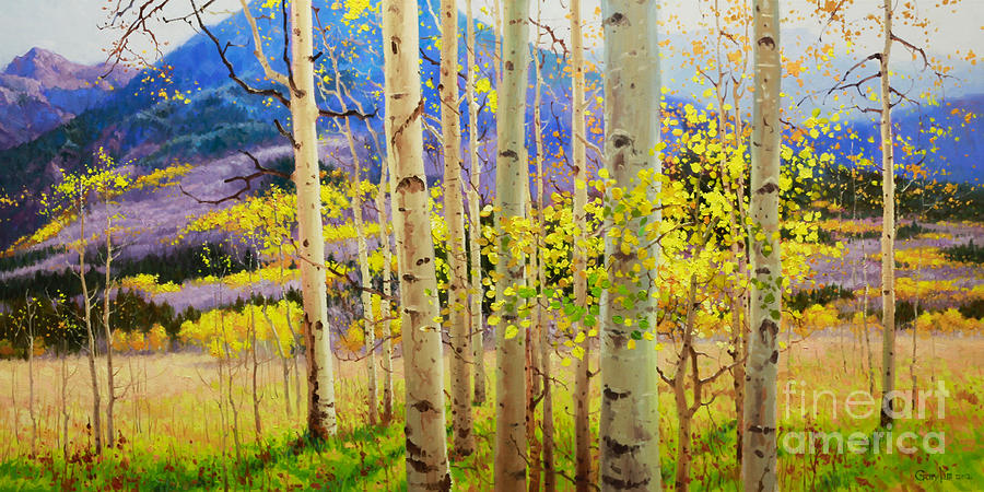 Beauty Of Aspen Colorado Painting  - Beauty Of Aspen Colorado Fine Art Print