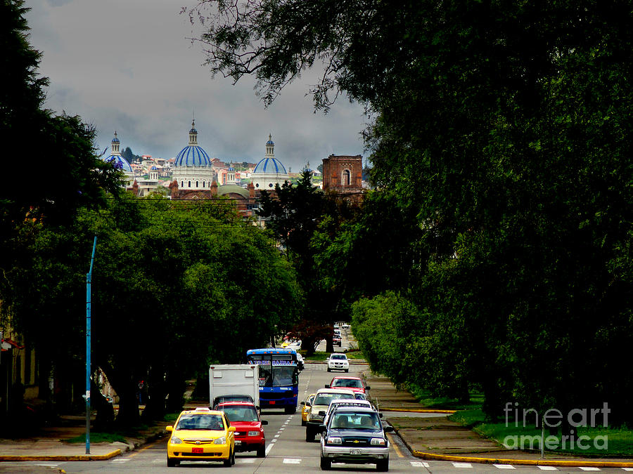 Beauty Of Avenida Solano In Cuenca Photograph  - Beauty Of Avenida Solano In Cuenca Fine Art Print