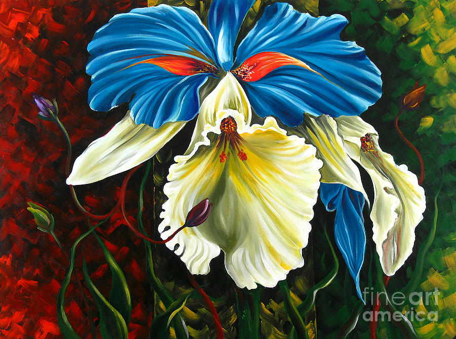 Beauty Of Blossom 2 Painting  - Beauty Of Blossom 2 Fine Art Print