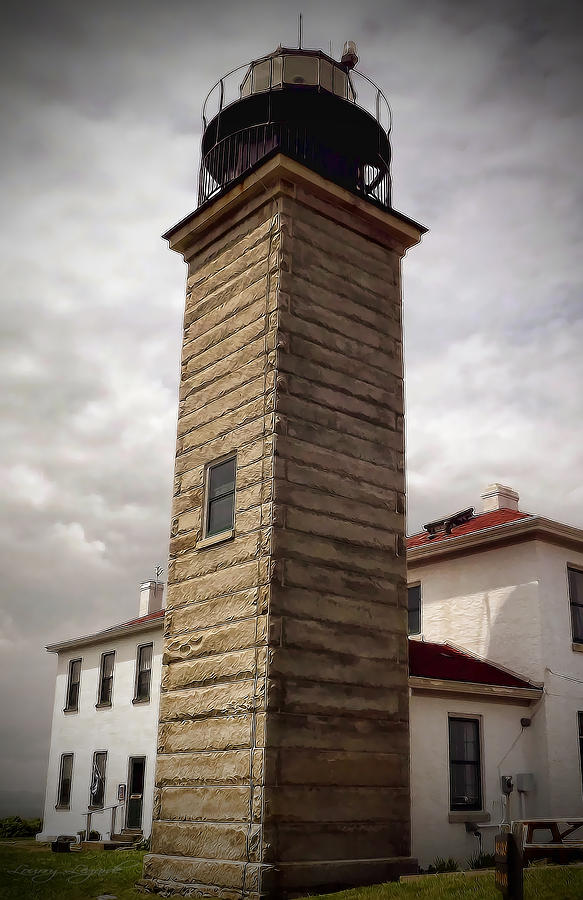 Beavertail Lighthouse Photograph  - Beavertail Lighthouse Fine Art Print