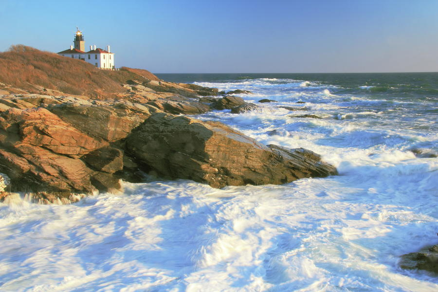 Beavertail Point And Lighthouse  Photograph