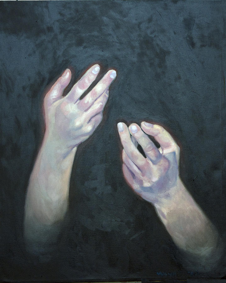 Beckoning Hands Painting