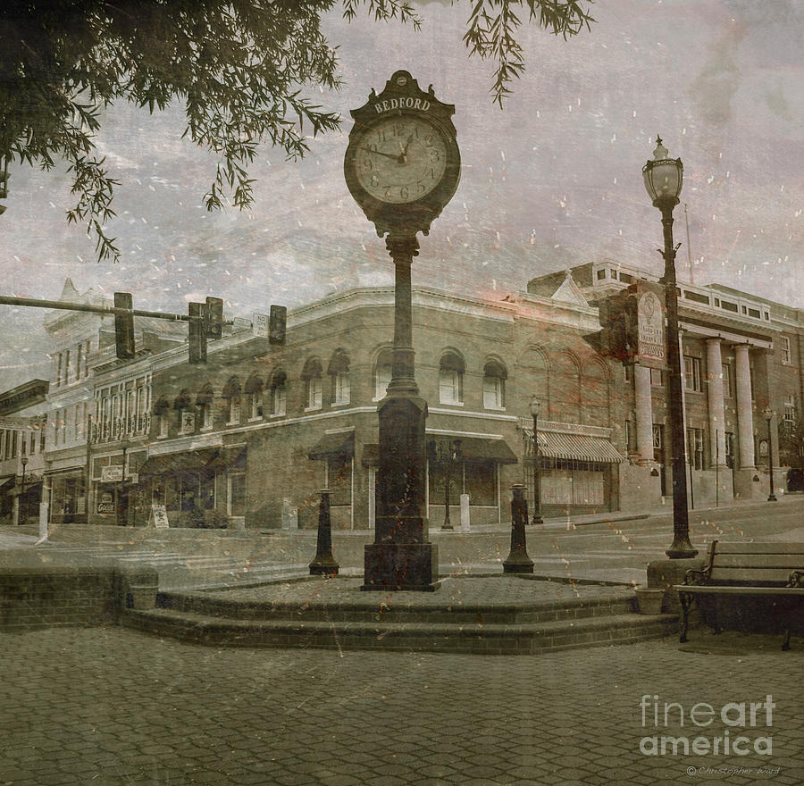 Bedford Town Center  Photograph  - Bedford Town Center  Fine Art Print
