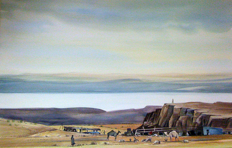 Bedouin Camp Above The Dead Sea Painting