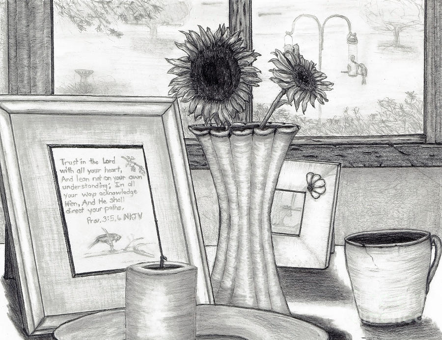 Bedside View Drawing  - Bedside View Fine Art Print