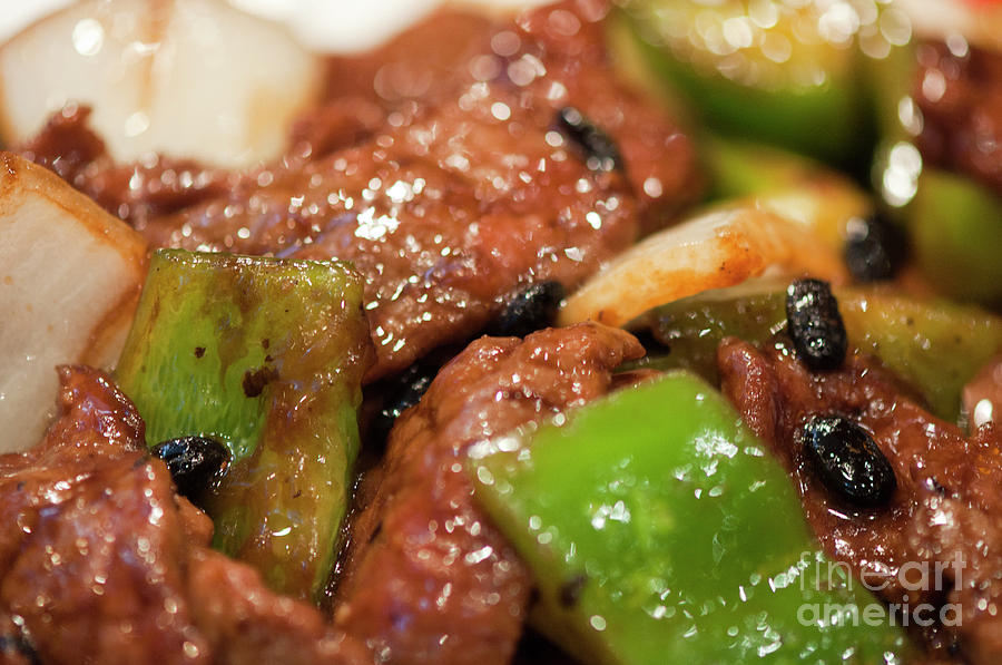 Beef Green Peppers Onions In Black Bean Sauce by Gary Chapple