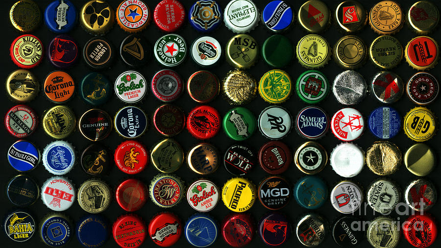 Beer Bottle Caps . 9 To 16 Proportion Photograph