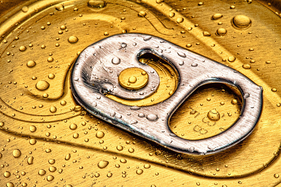 Beer Can Pull Tab Photograph