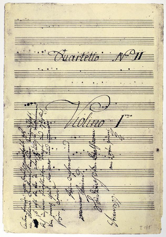 Beethoven Manuscript, 1799 Photograph