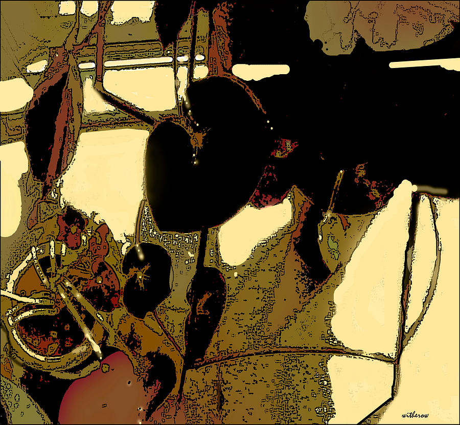 Begonias And Shadows Digital Art  - Begonias And Shadows Fine Art Print