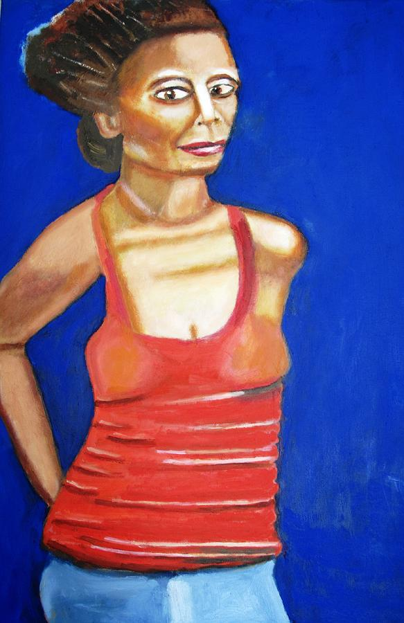 Behind Her Back Painting by Keith Bagg