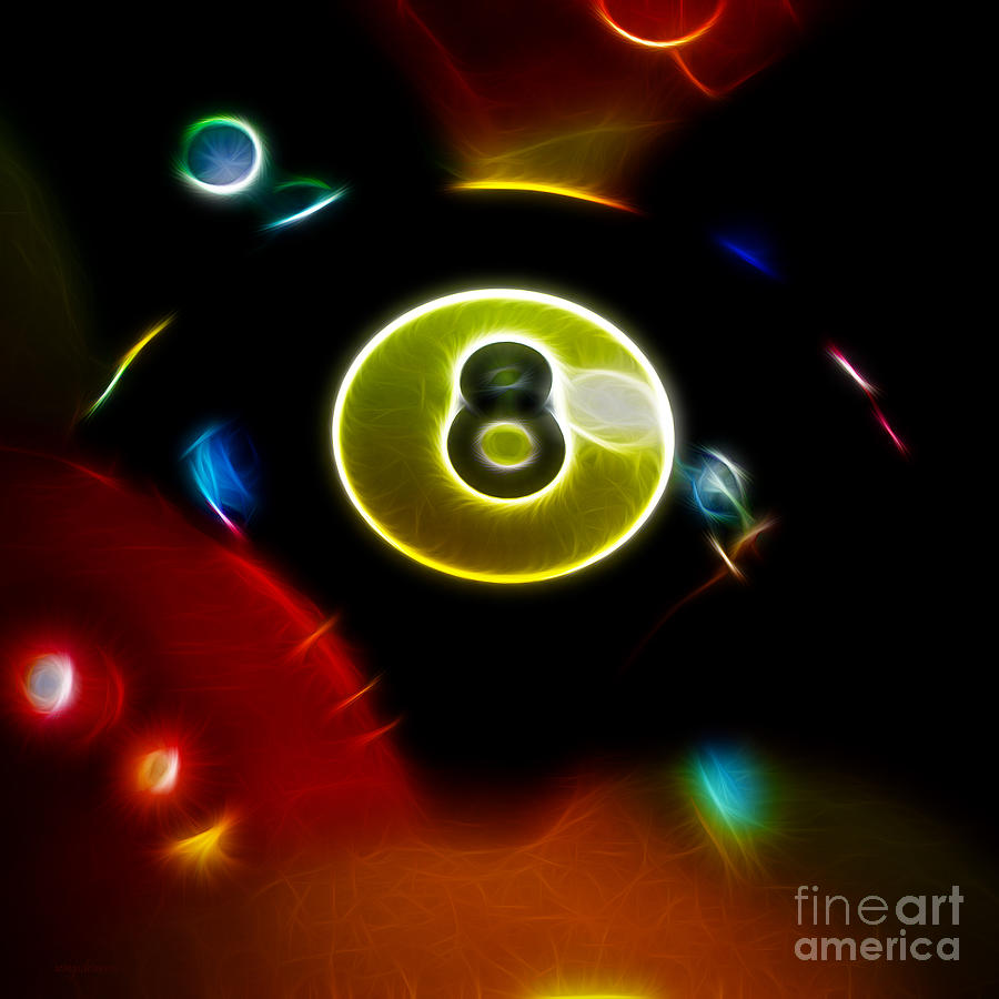 Behind The Eight Ball - Square - Electric Art Photograph