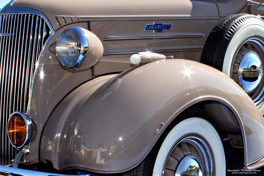 Beige 1937 chevrolet pickup truck photograph by randall thomas stone