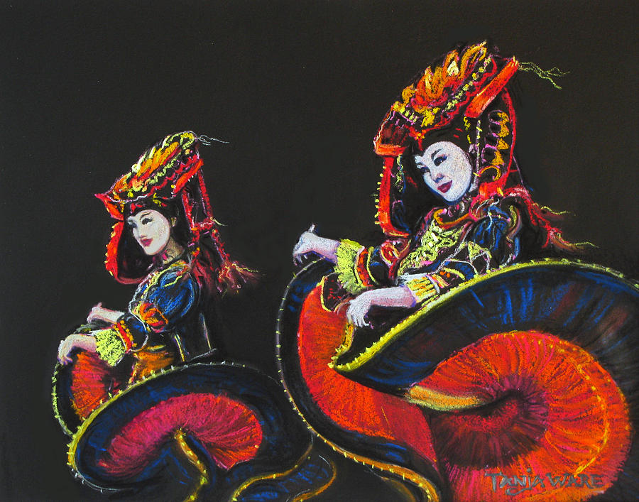 Bejing Beauties Painting  - Bejing Beauties Fine Art Print
