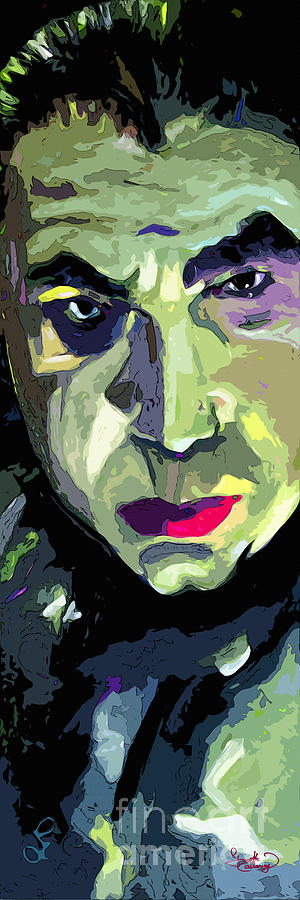 Dracula Painting - Bela Lugosi Dracula Portrait by Ginette Callaway