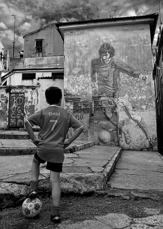 Belfast Boy In Memory Of George Best  Photograph