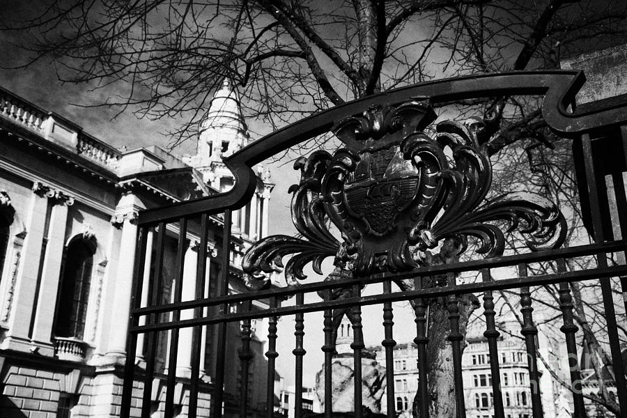 Belfast Coat Of Arms On Gates Of The City Hall Northern Ireland Uk Photograph