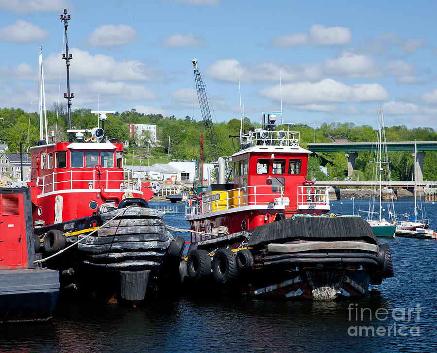 Belfast Tugboats Photograph