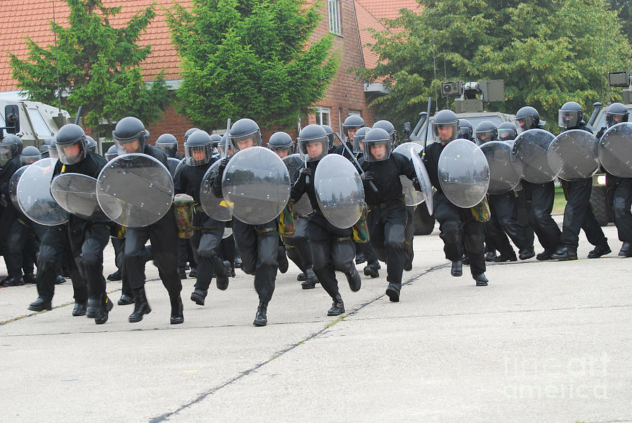 Belgian Infantry Soldiers Training Photograph