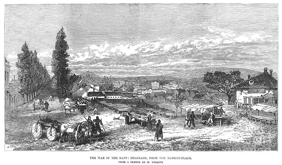 Belgrade: Market, 1876 Photograph