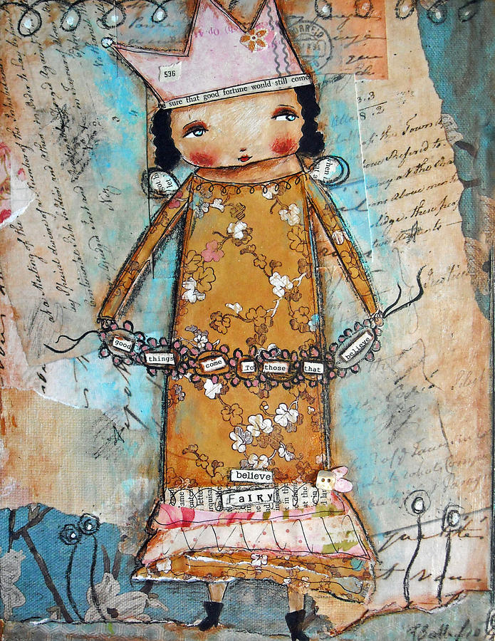 Believe Fairy Mixed Media  - Believe Fairy Fine Art Print