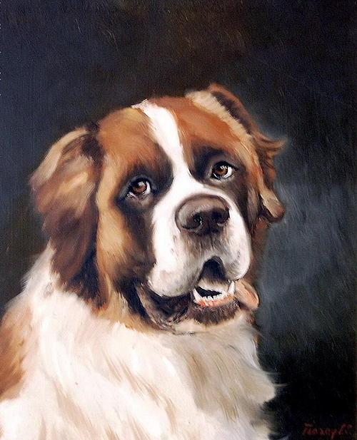 Pet Painting - Bell by Joe Tiszai