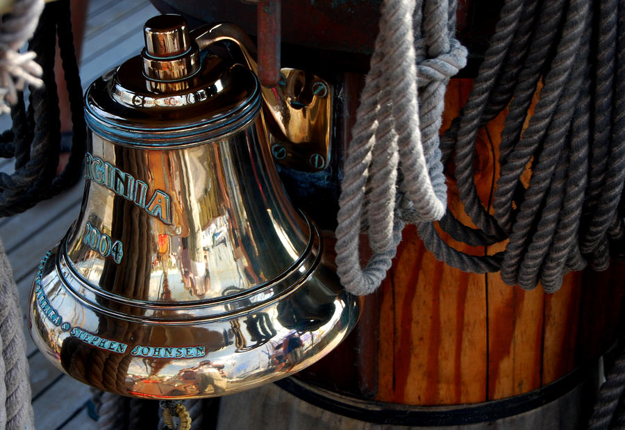Bell On Schooner Virginia Photograph  - Bell On Schooner Virginia Fine Art Print