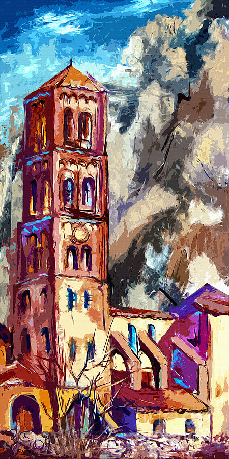 Bell Tower South Of France Painting  - Bell Tower South Of France Fine Art Print