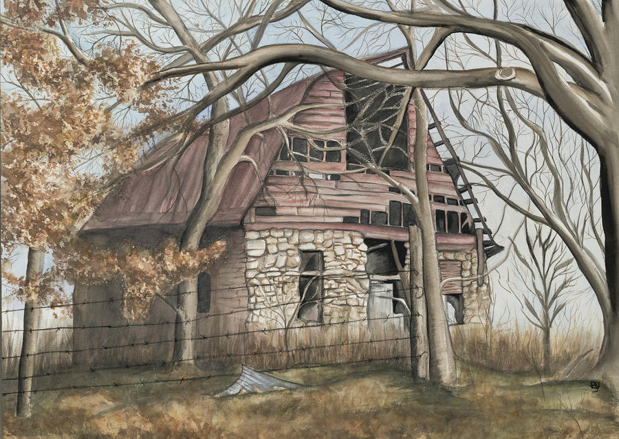 Bella Vista Barn Painting  - Bella Vista Barn Fine Art Print