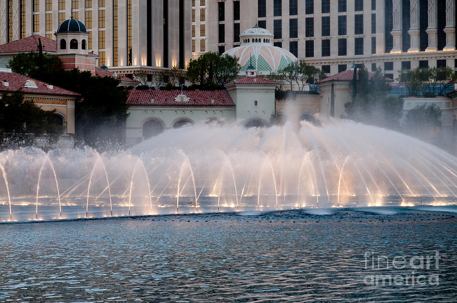 Bellagio Fountain Patterns 2 Hotel Casino Fountains Las Vegas Nevada Photograph