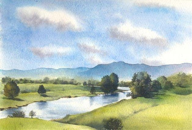 Bellinger River In Spring Painting