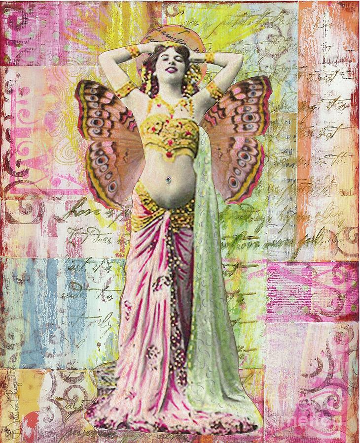 Belly Dancer Mixed Media  - Belly Dancer Fine Art Print