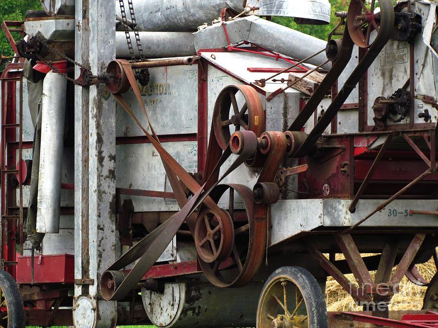 Farm Machinery Belts : Belts galore photograph by deborah johnson