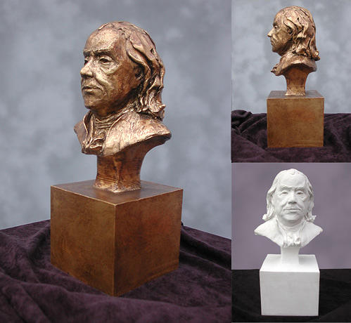 Ben Franklin Portrait Bust Sculpture