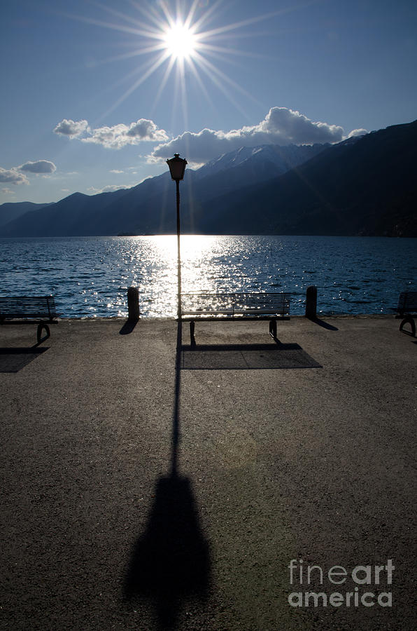 Bench And Street Lamp Photograph