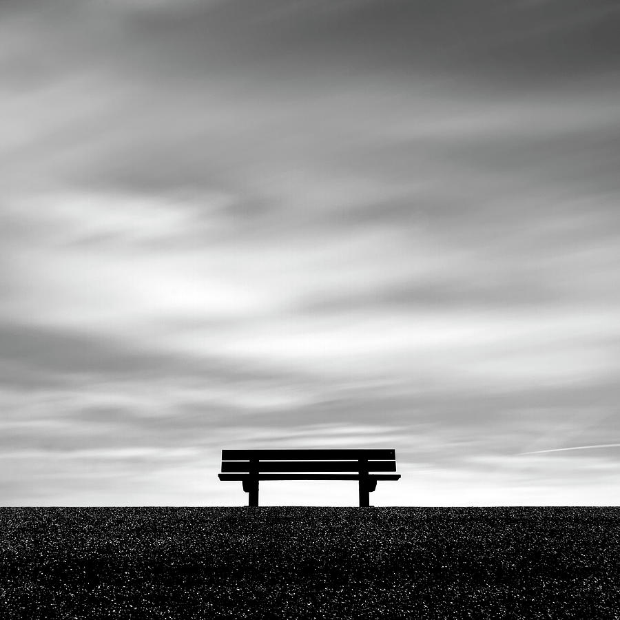 Bench, Long Exposure Photograph  - Bench, Long Exposure Fine Art Print