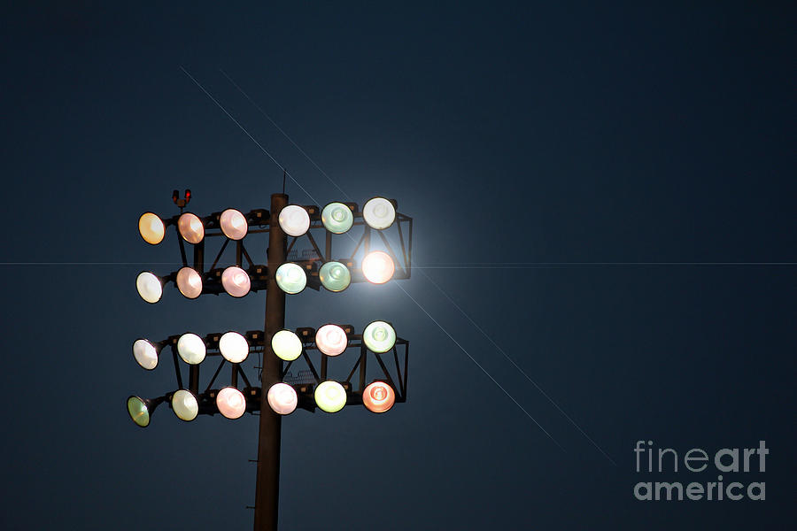 Beneath Friday Night Lights Photograph  - Beneath Friday Night Lights Fine Art Print