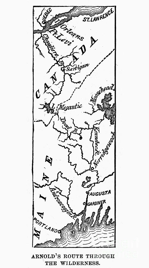 Benedict Arnold: Map, 1775 Photograph