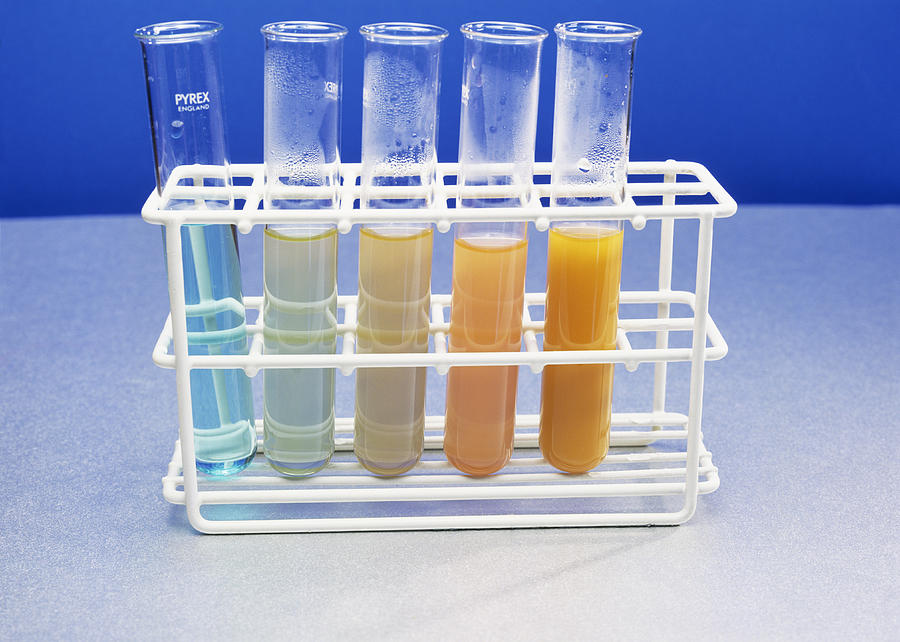 Benedict's Reagent Photograph - Benedicts Test For Sugars by Andrew Lambert Photography