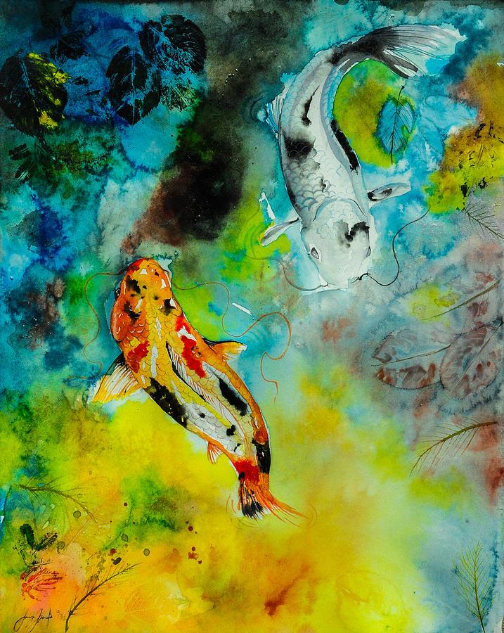 Benigoi bekko painting by sydney gregory for Koi fish pond sydney
