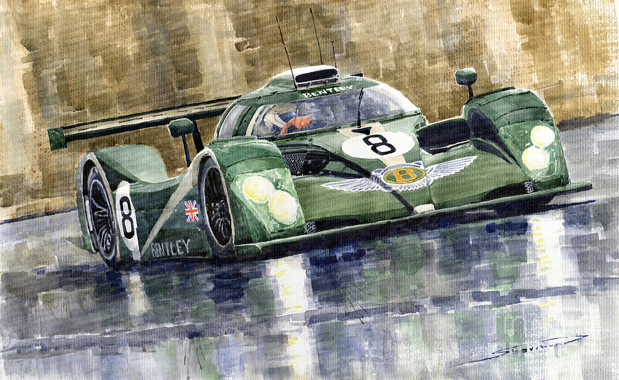 Bentley Prototype Exp Speed 8 Le Mans Racer Car 2001 Painting  - Bentley Prototype Exp Speed 8 Le Mans Racer Car 2001 Fine Art Print