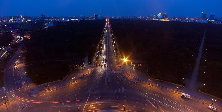 Berlin Photograph - Berlin From The Siegessaule  by Mike Reid