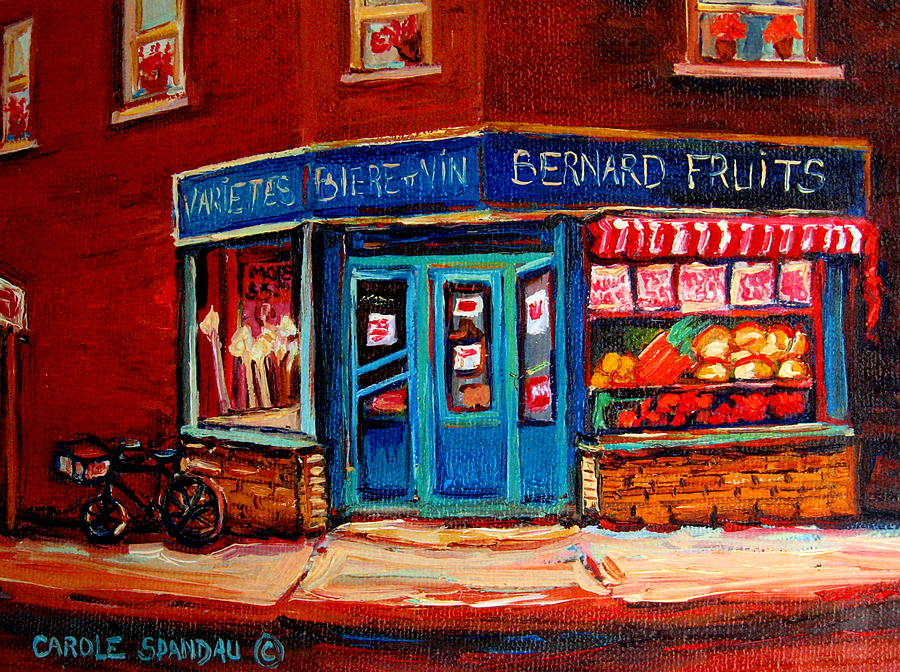 Bernard Fruit And Broomstore Painting  - Bernard Fruit And Broomstore Fine Art Print