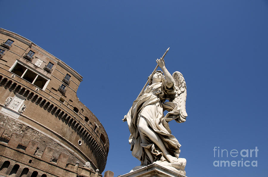 Bernini Statue On The Ponte Sant Angelo Photograph