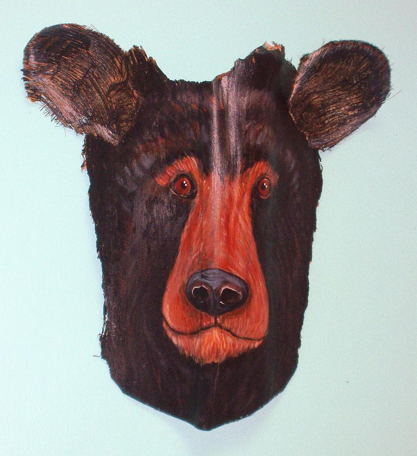 Berry Black Bear Mixed Media